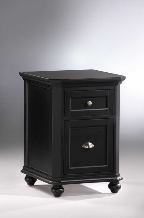 Hanna 2-Drawer Cabinet Black-Homelegance