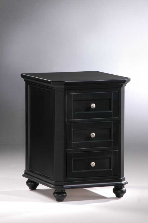Hanna 3-Drawer Cabinet Black-Homelegance