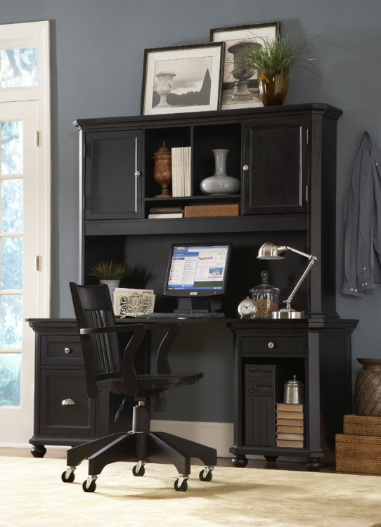 Hanna Home Office Set - Black-Homelegance