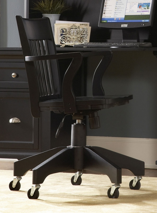 Hanna Swivel Chair Black-Homelegance