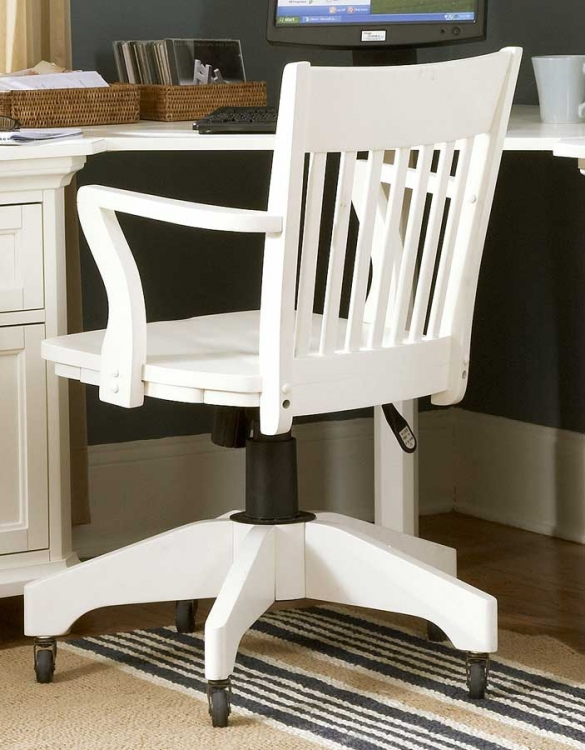 Hanna Swivel Chair White-Homelegance