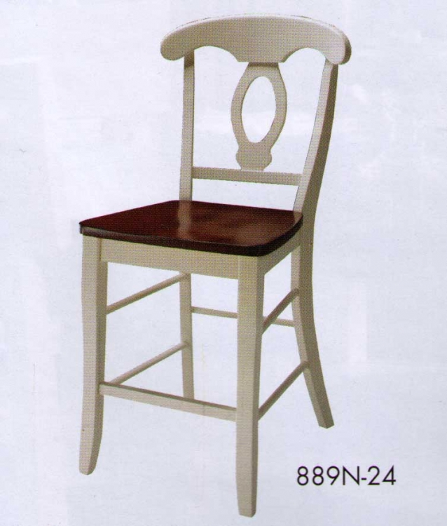 Hanna Napoleon Counter Height Chair White