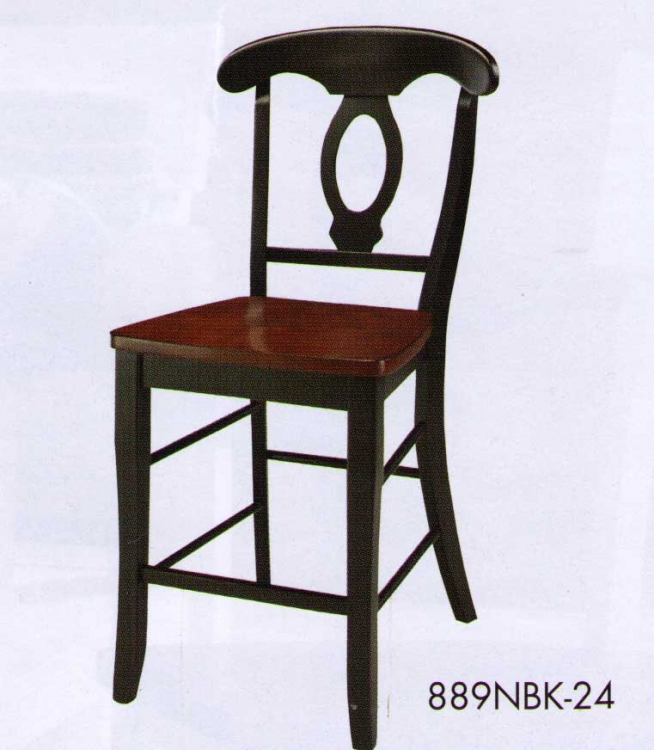 Hanna Napoleon Counter Height Chair Black