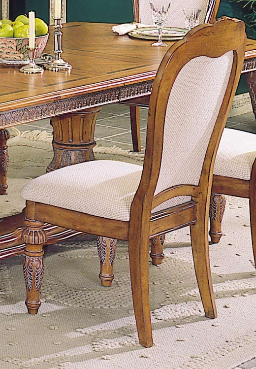 Caspian Sidechair with Upholstered Carved Back