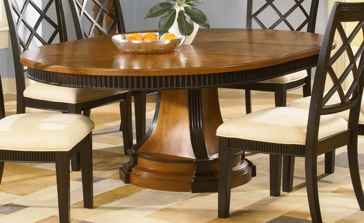 Chameleon Round Oval Dining Table