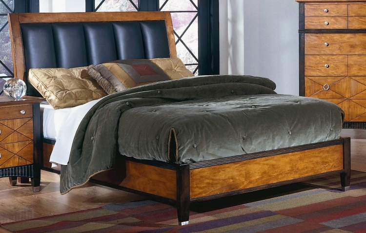 Chameleon Bed Leather Headboard