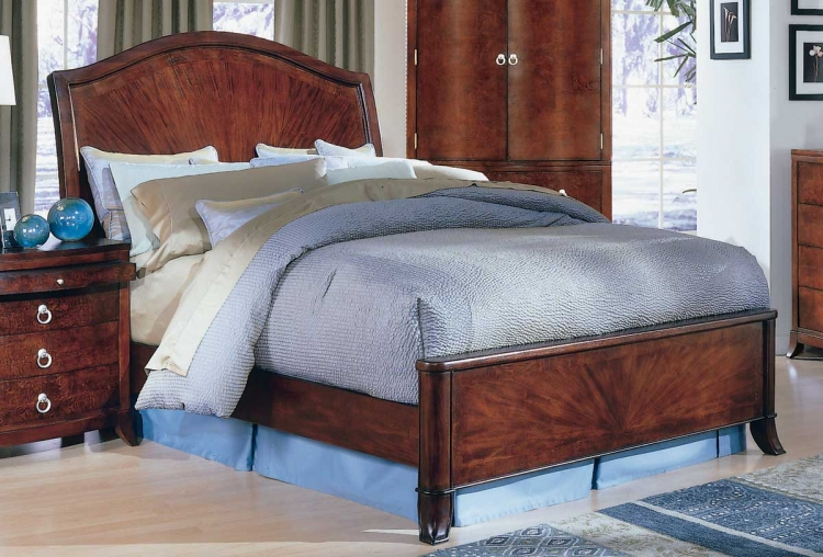 Maltese Sleigh Bed with low Profile Footboard