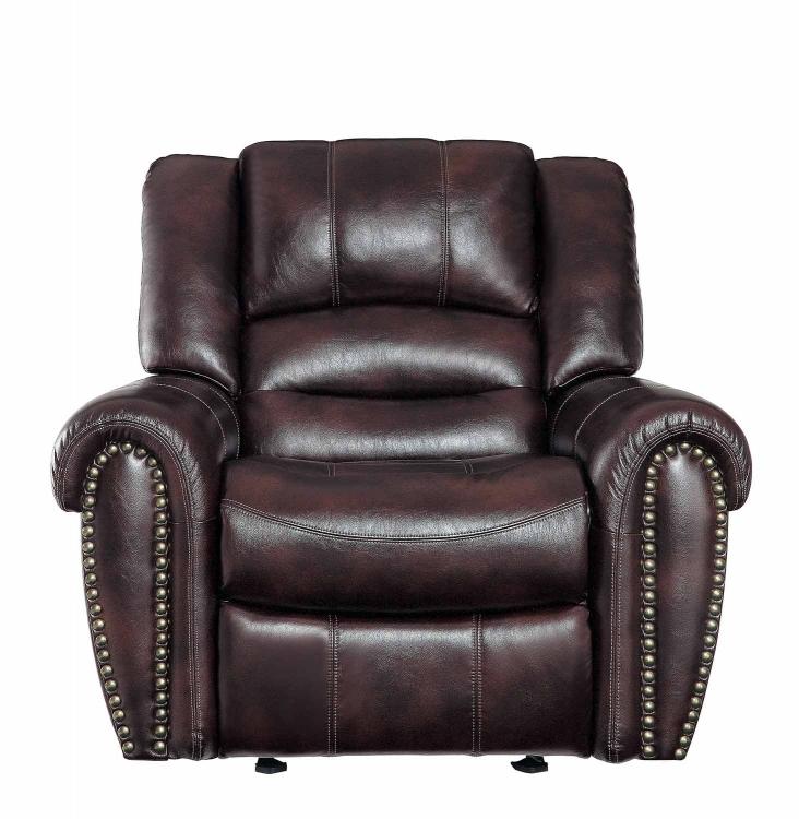 Center Hill Glider Reclining Chair - Dark Brown