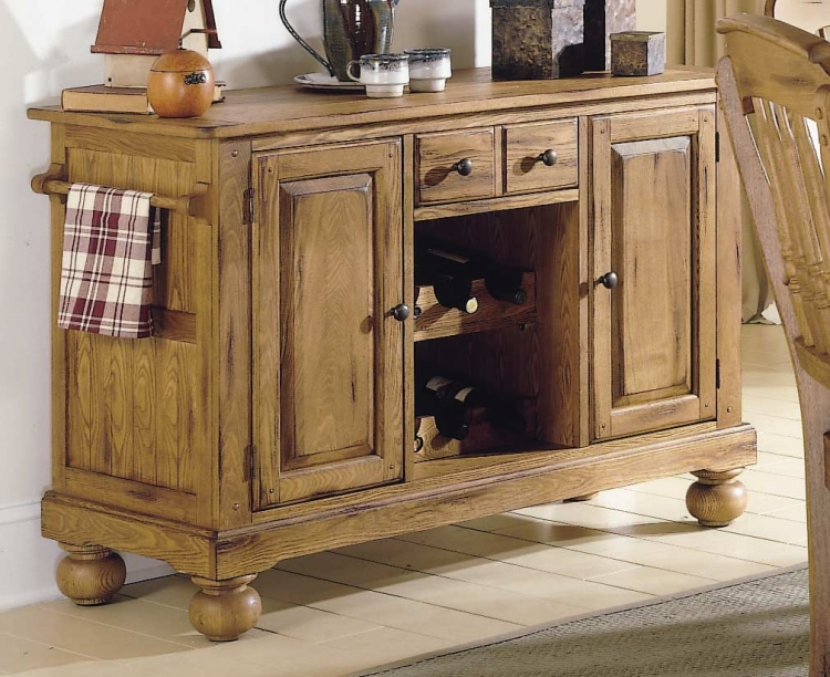 Homelegance Mendocino Server with Wine Storage