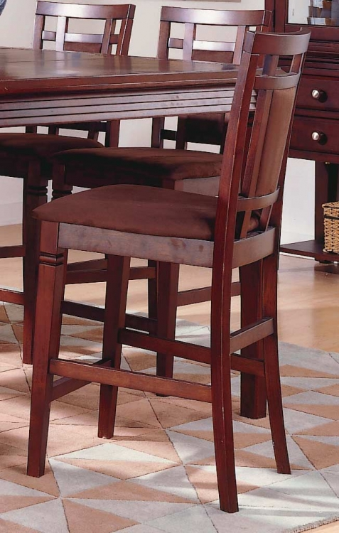 The Richmond Counter Height Chair Chocolate Microfiber-Homelegan