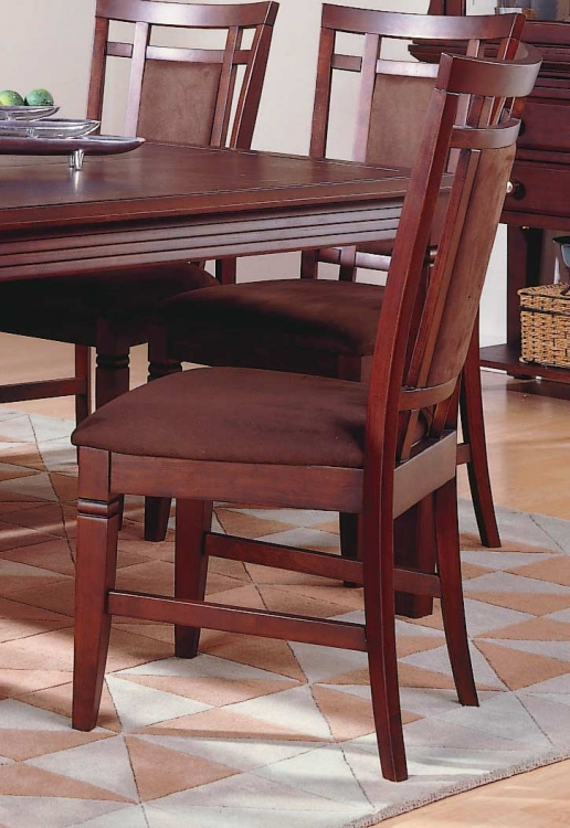 The Richmond Side Chair Chocolate Microfiber