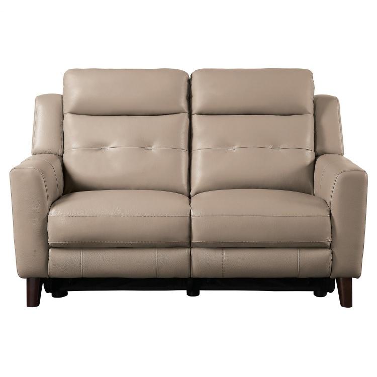 Wystan Power Double Reclining Love Seat - Beige