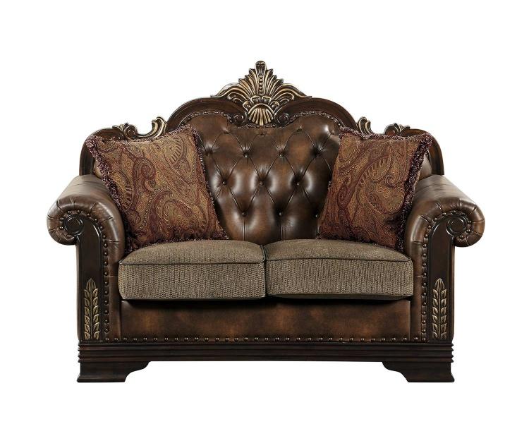Croydon Love Seat - Brown
