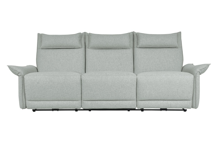 Linette Power Double Reclining Sofa with Power Headrests - Ocean