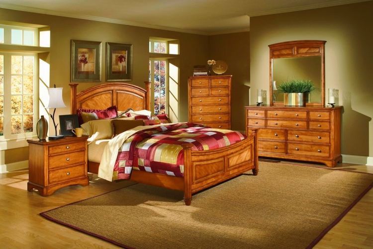 Laurel Heights Bedroom Collection Oak-Homelegance