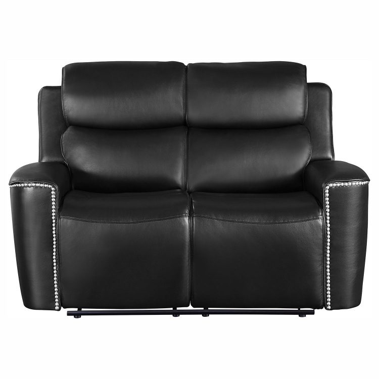 Altair Double Reclining Love Seat - Black