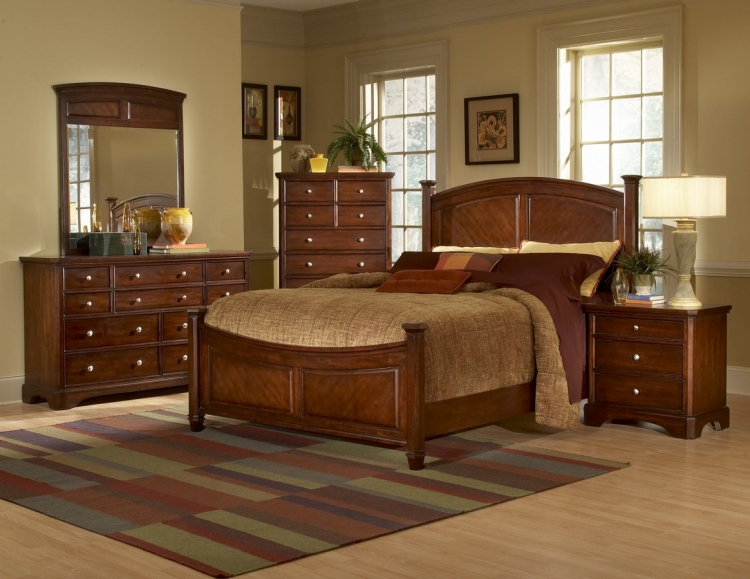 Laurel Heights Bedroom Collection Cherry-Homelegance