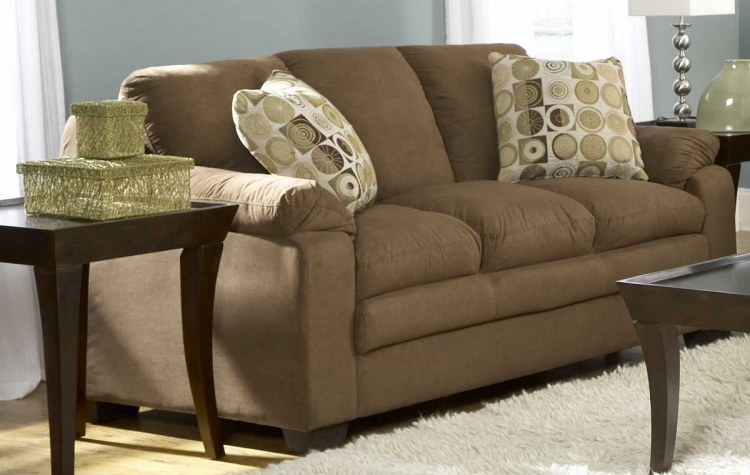 Scarlet Sofa in Brown Microfiber-Homelegance