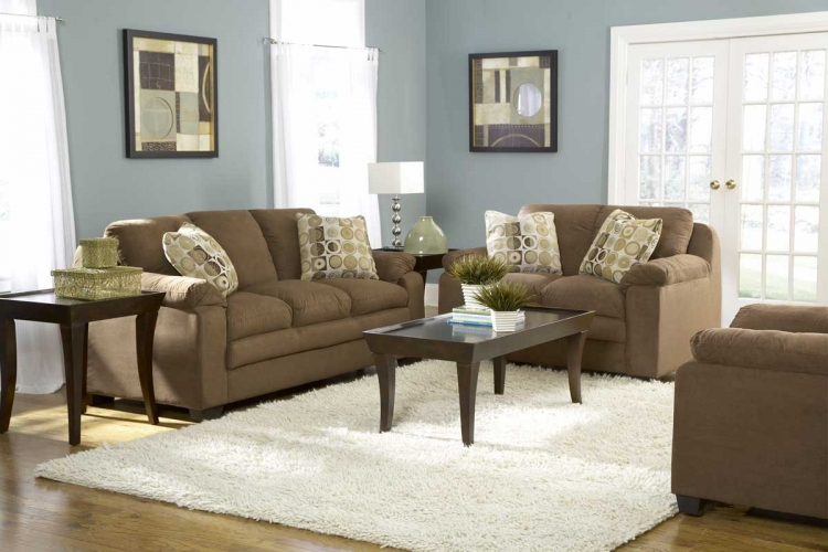 Scarlet Sofa Collection in Brown Microfiber-Homelegance