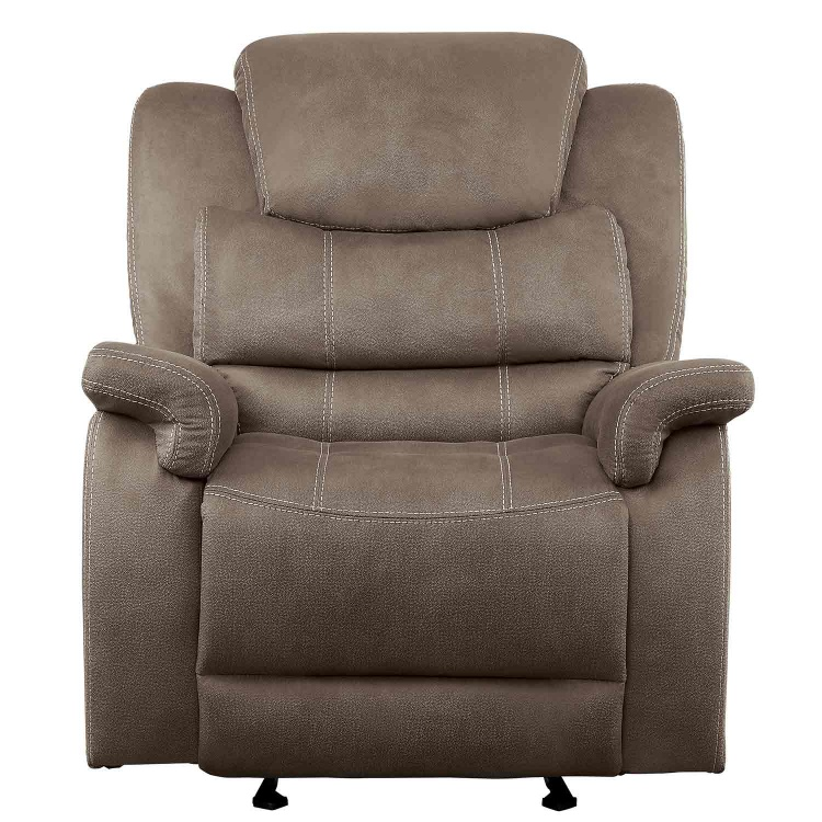 Shola Power Reclining Chair with Power Headrest - Brown