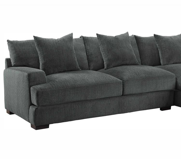 Homelegance Worchester Left Side 2-Seater - Dark gray