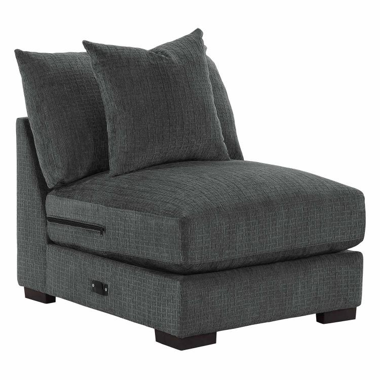 Worchester Armless Chair - Dark gray