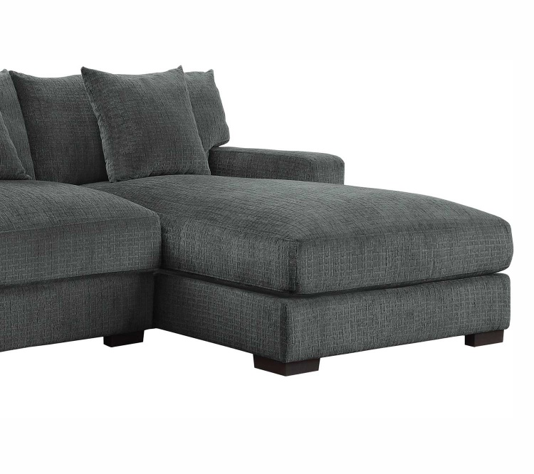 Homelegance Worchester Right Side Chaise - Dark gray