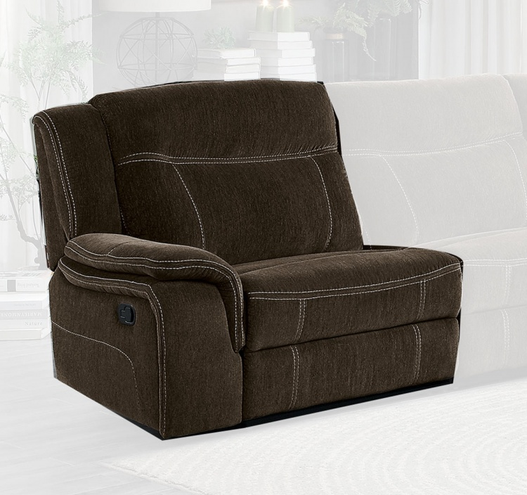 Annabelle Left Side Reclining Chair - Brown
