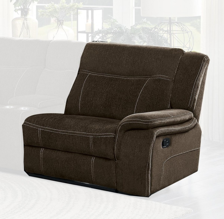Annabelle Right Side Reclining Chair - Brown