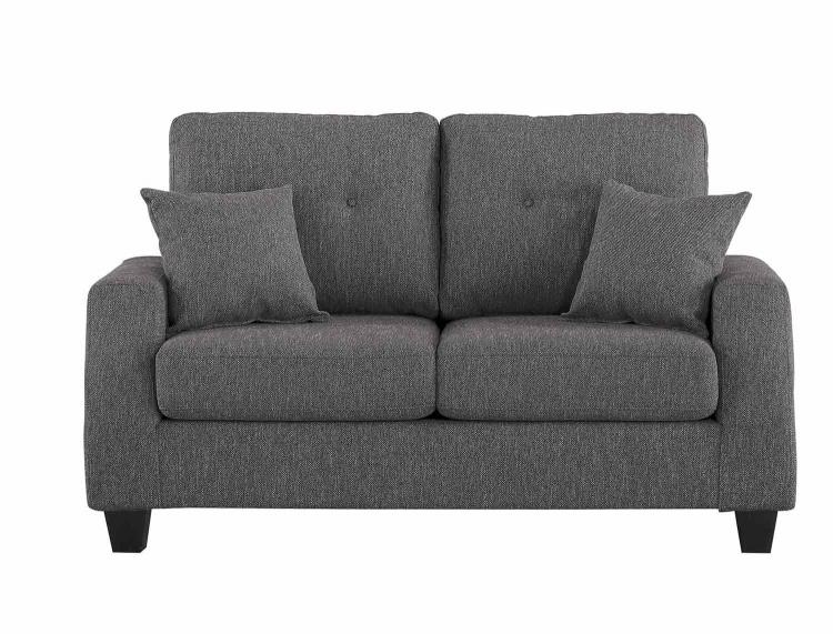 Vossel Love Seat - Gray