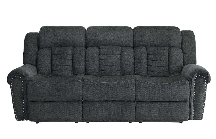 Nutmeg Double Reclining Sofa - Charcoal Gray