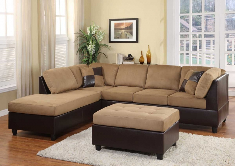 Comfort Living Seating Collection Brown Finish - Homelegance