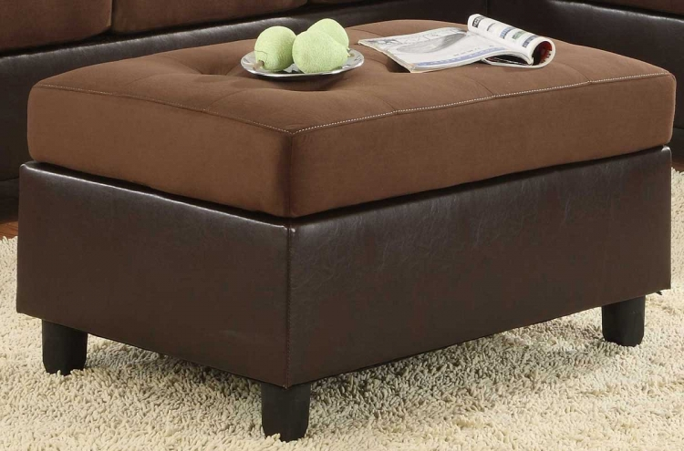 Comfort Living Ottoman Chocolate Finish - Homelegance