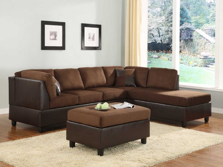 Comfort Living Seating Collection Chocolate Finish - Homelegance