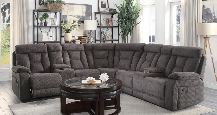 Rosnay Reclining Sectional Sofa - Chocolate