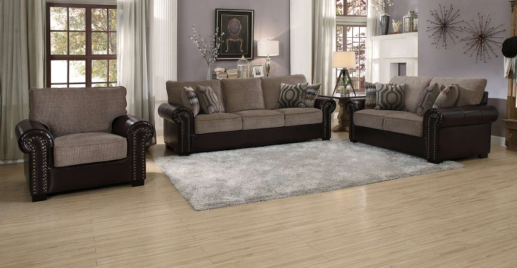 Boykin Sofa Set - Brown Chenille