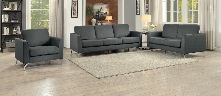 Canaan Sofa Set - Gray