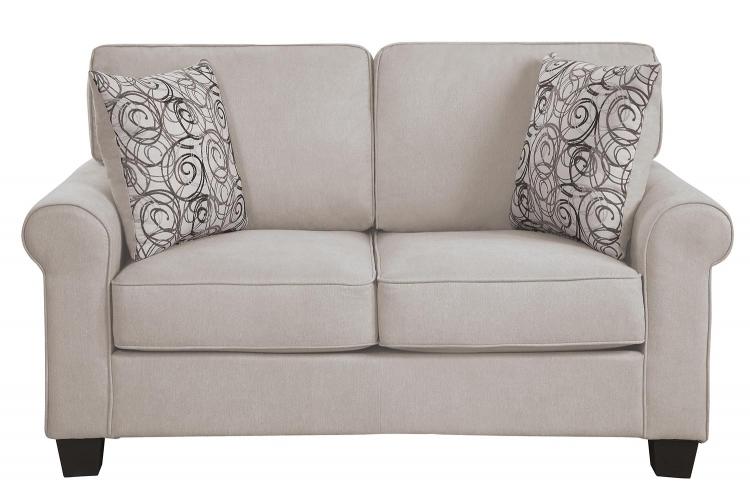 Selkirk Love Seat - Sand Fabric