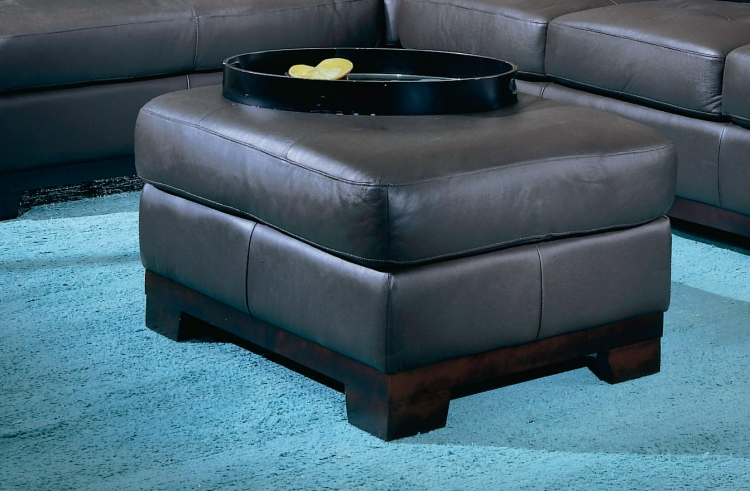 Tufton Ottoman Brown - Homelegance