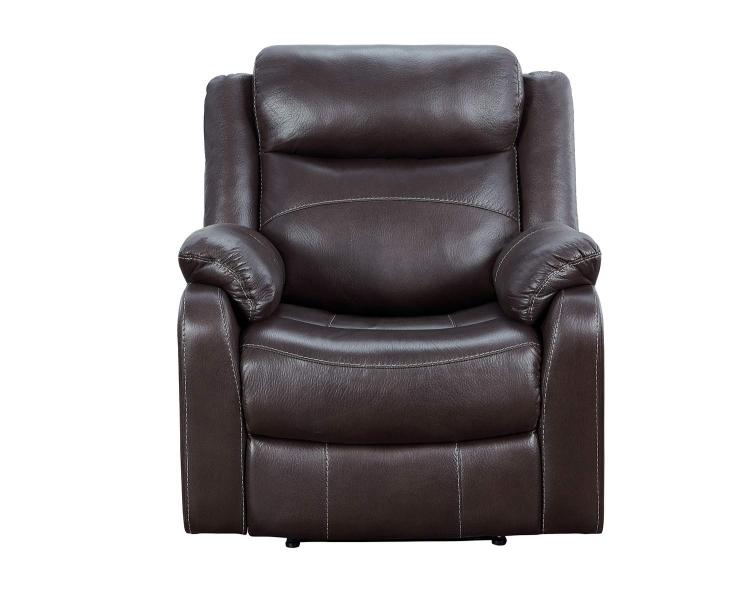 Yerba Lay Flat Reclining Chair - Dark Brown