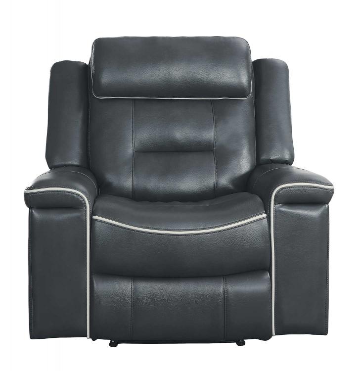 Darwan Lay Flat Reclining Chair - Dark Gray
