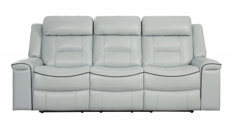 Darwan Double Lay Flat Reclining Sofa - Light Gray