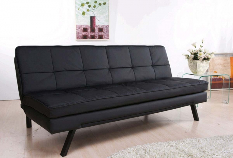 Newport Double Cushion Leather Convertible Sofa - Abbyson Living