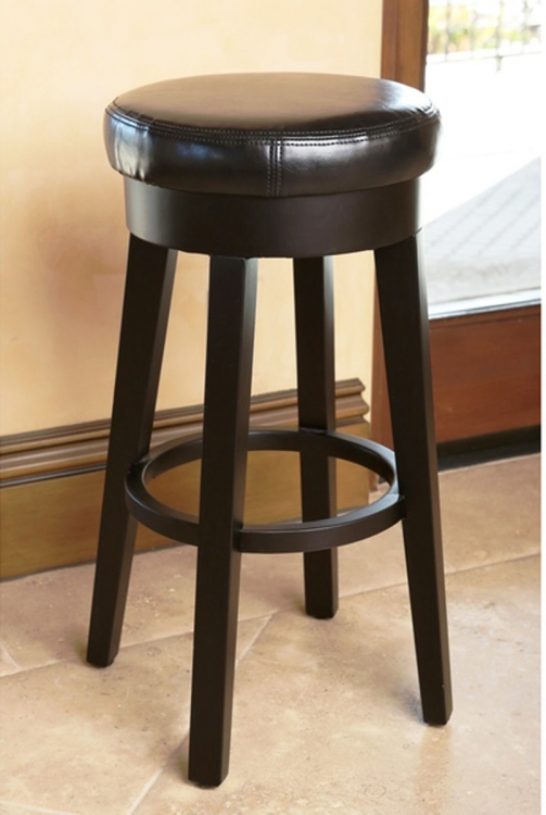 Willow Leather Counterstool - Black