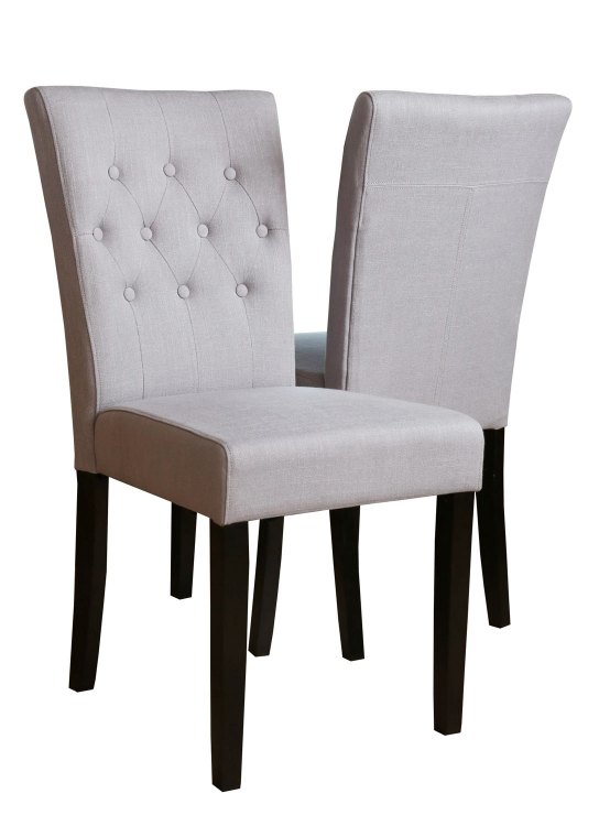 Parsons Tufted Linen 2 PC Dining Chair Set - Blue