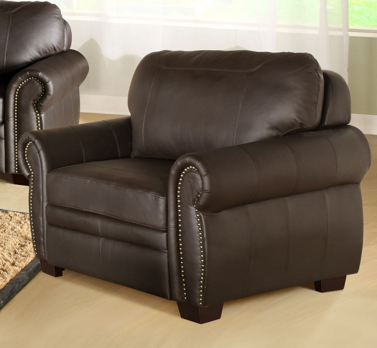 Signature Premium Italian Leather Oversized Chair - Abbyson Living