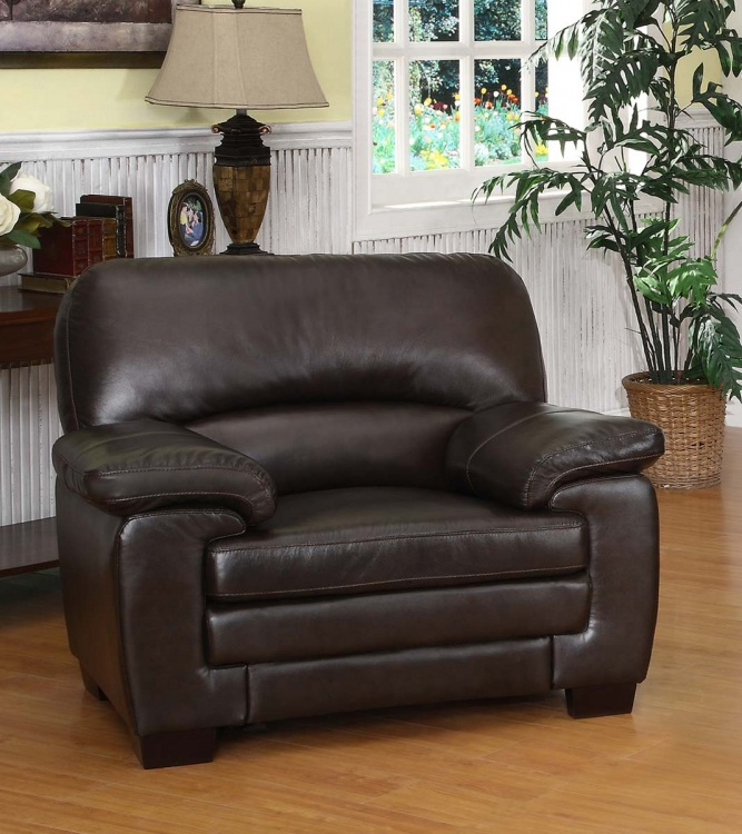 Charleston Italian Leather Armchair - Abbyson Living