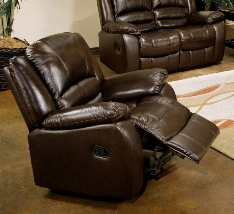 Brownstone Reclining Leather Arm Chair - Abbyson Living