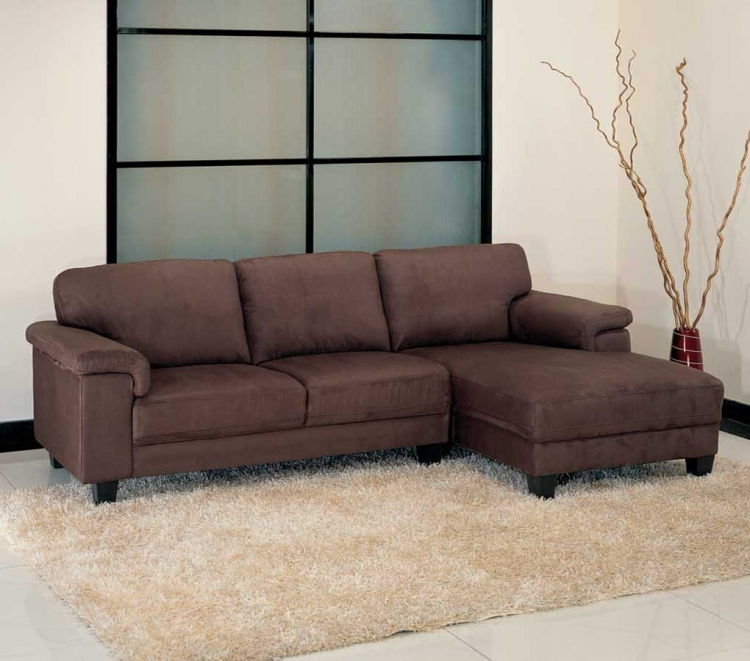 Capri Dark Brown Sectional - Abbyson Living