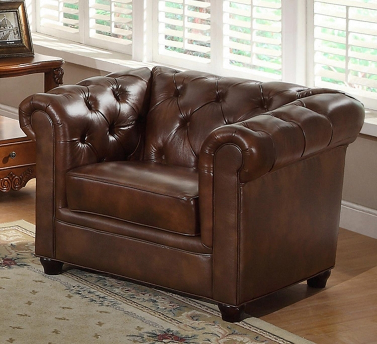 Arcadian Premium Italian Leather Armchair